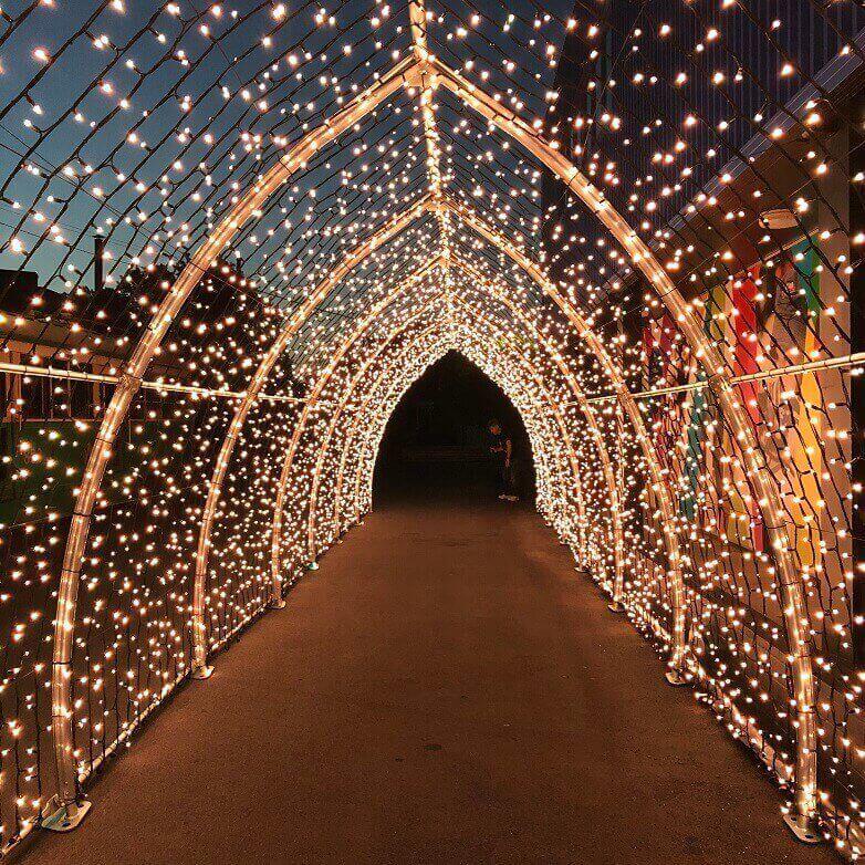 تونل نور هشتی شکل با نور آفتابی ( طلایی )